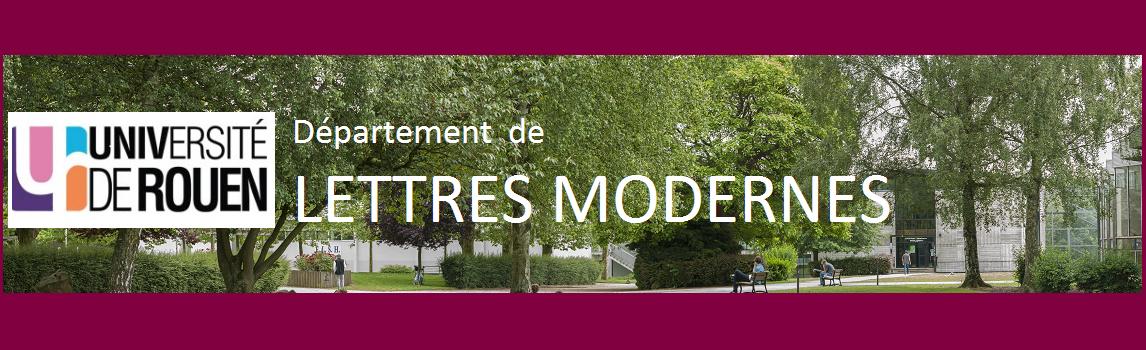 Site du département de Lettres Modernes de l'université de Rouen